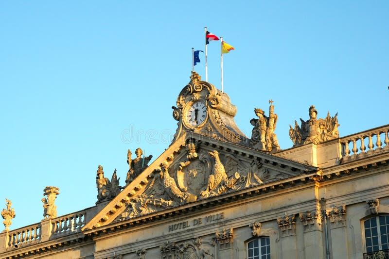 Nancy City Hall of het Hotel DE ville op het Stanislas vierkant stock afbeelding