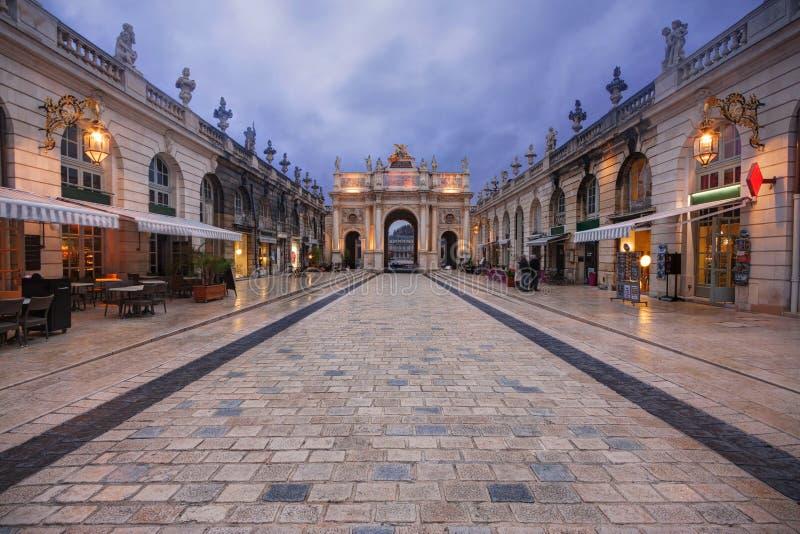 Nancy, Frankrijk: Boog Héré stock foto's
