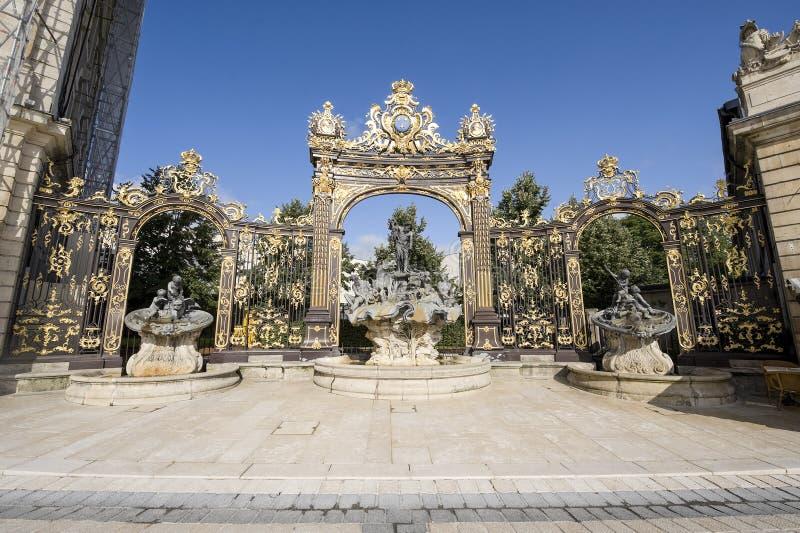 Nancy (Frankrike) - Stanislas fyrkant royaltyfri fotografi