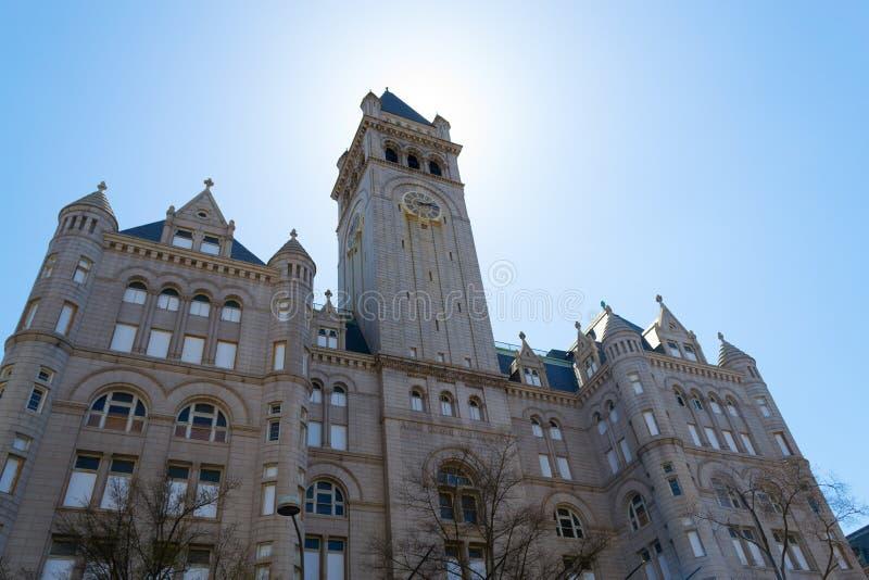 Nancy Hanks Center som täcker solen royaltyfri fotografi
