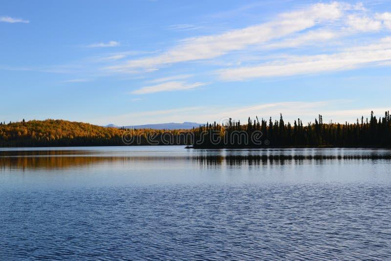 Nancy Lake bei Alaska stockfotos