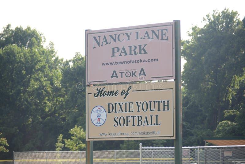 Nancy Lane Park Home de Dixie Youth Softball, Atoka, TN photos stock