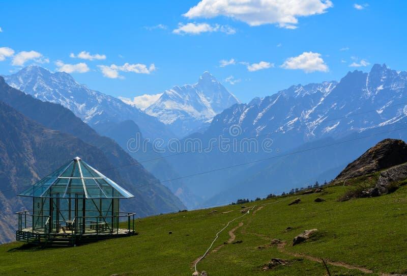 Nanda Devi Peak i Uttarakhand, Indien royaltyfri foto