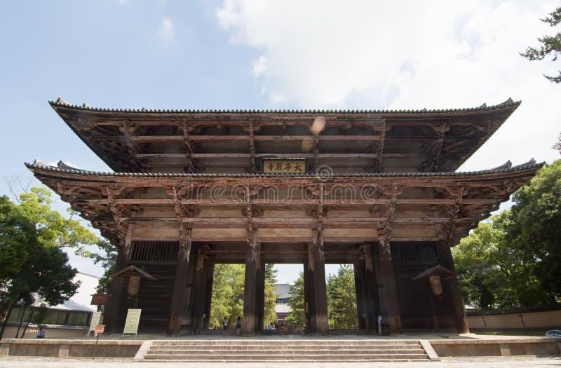 Nandaimon à Nara, Japon images libres de droits