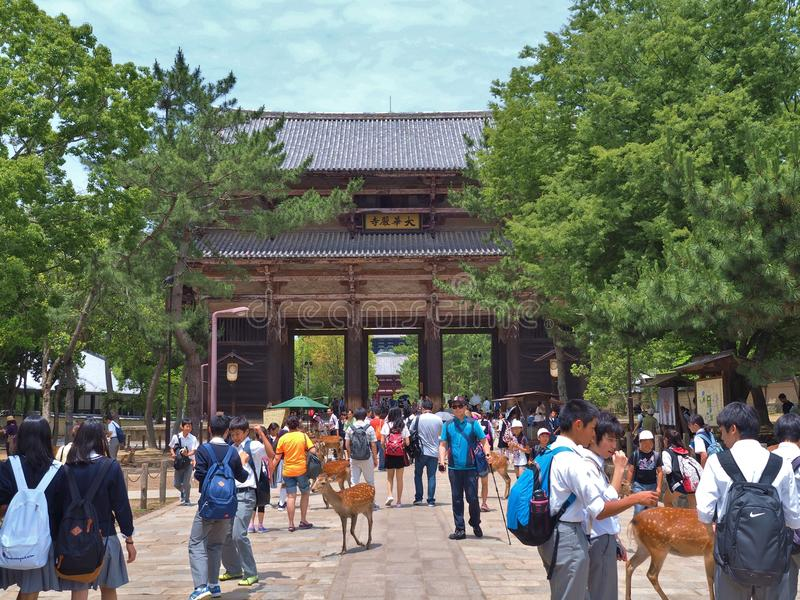 Nandaimon-Tor, Todaiji-Tempel in Nara, Japan stockfotos