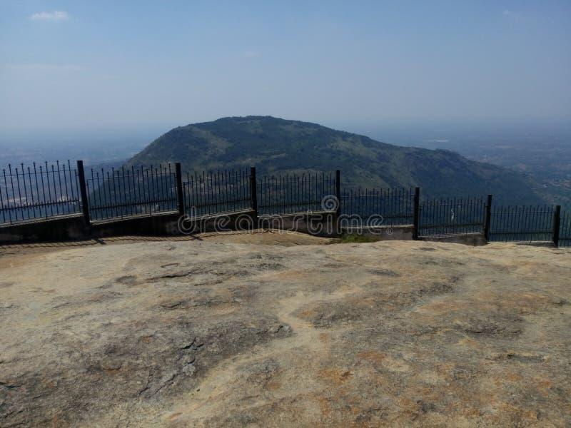 Nandhi小山小山驻地印度 免版税库存照片