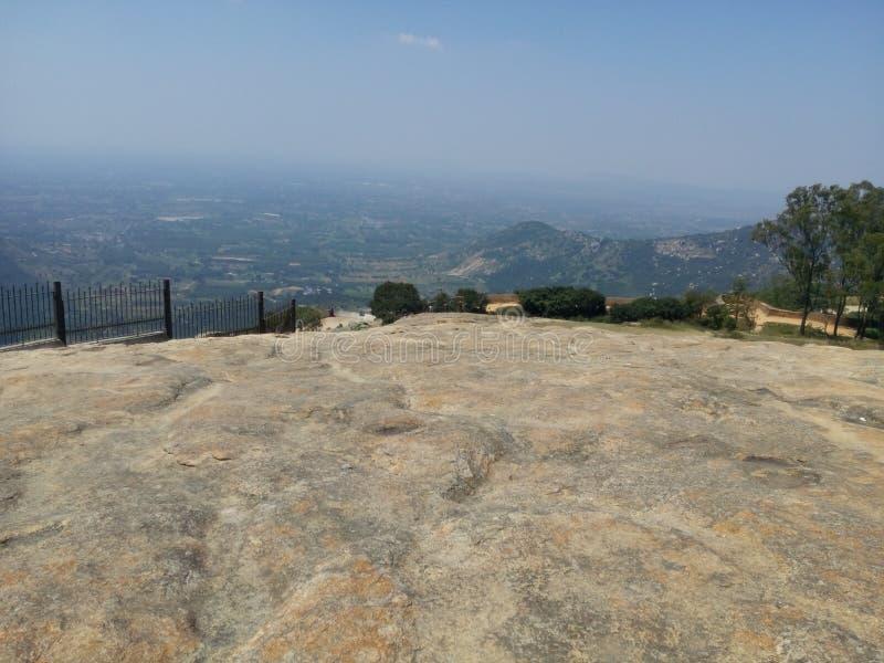 Nandhi小山小山驻地印度 图库摄影