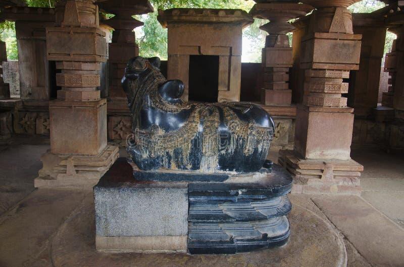 Nandi Bull, висок Ramappa, Warangal, положение Telangana Индии стоковое фото