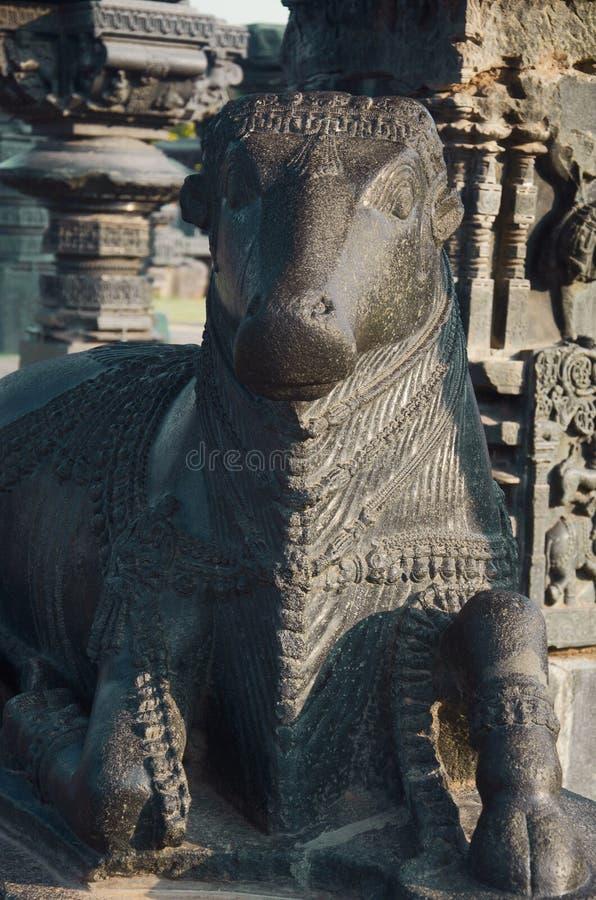 Nandi Bull, висок Ramappa, Warangal, положение Telangana Индии стоковые изображения