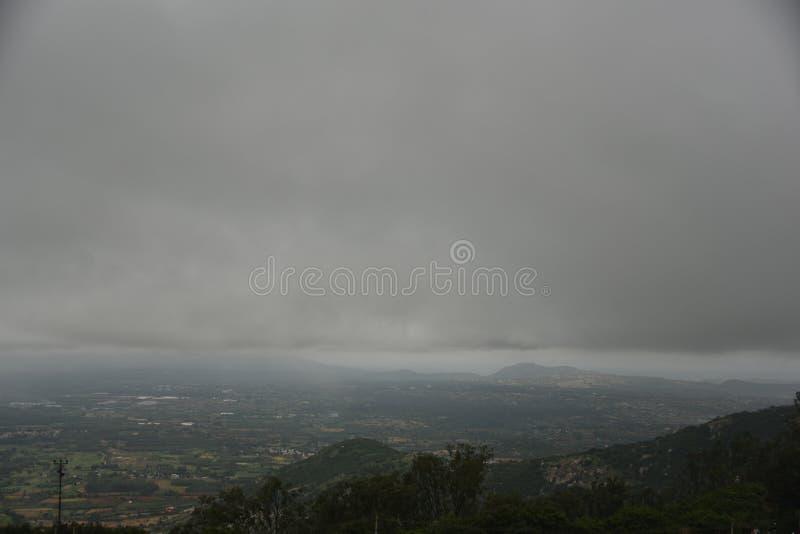 Nandi Hills landscape view, Karnataka. India royalty free stock photos