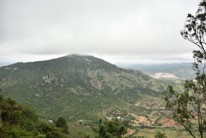Nandi Hills landscape view, Karnataka. India royalty free stock image