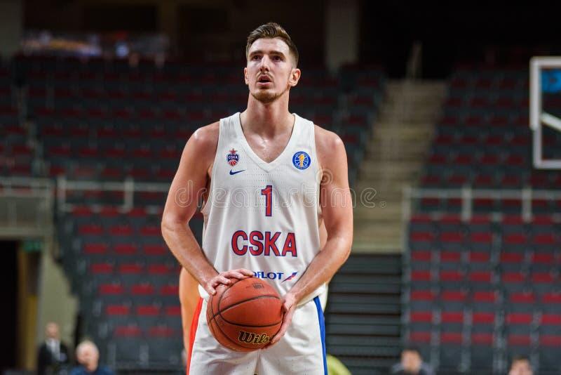 Nando de Colo, equipe CSKA Moscou imagem de stock royalty free