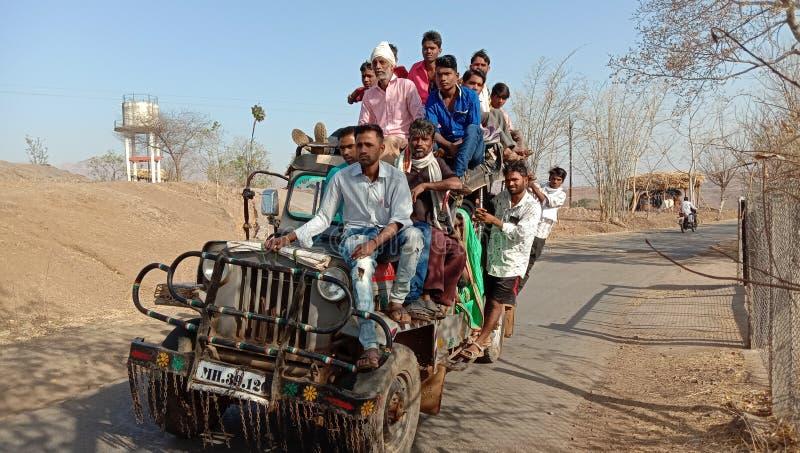 Nandurbar Maharashtra Indien des ländlichen Transportplatzes lizenzfreie stockfotografie