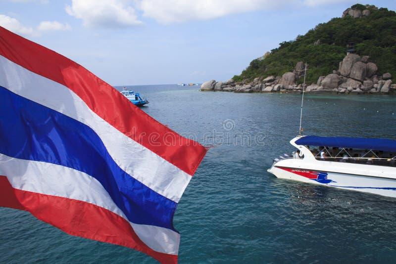 Nang Juan wyspa przy Koh Tao, Tajlandia zdjęcie stock