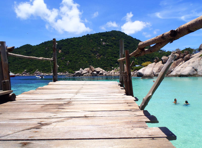Nang Yuan Island in Koh Tao, Thailand stock foto