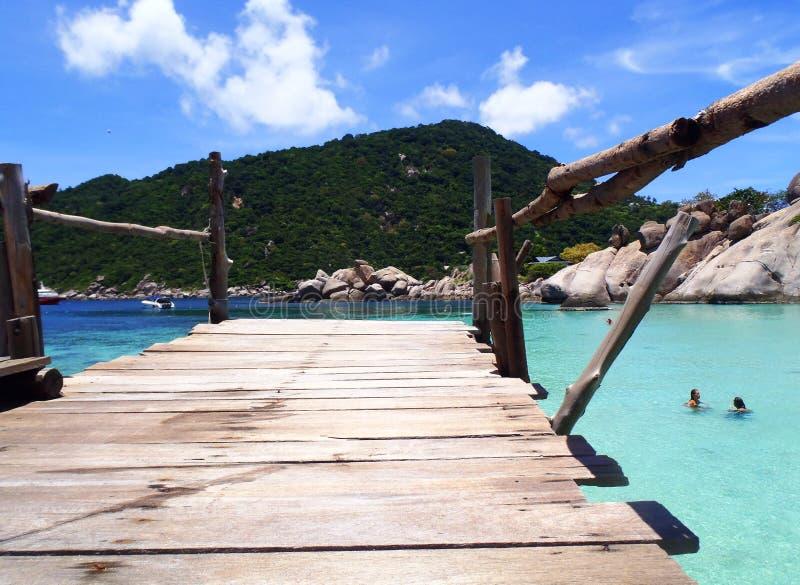 Nang Yuan Island på Koh Tao, Thailand arkivfoto