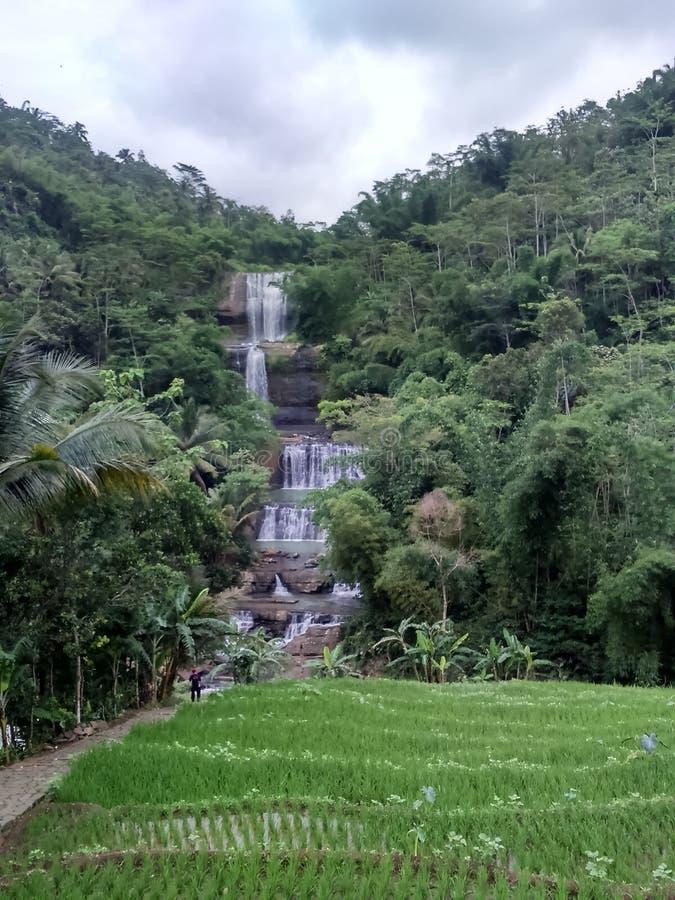 Nanga vattenfall royaltyfria foton