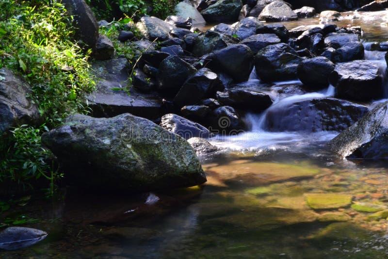 Nangka vattenfall, Bogor, västra Java arkivbilder