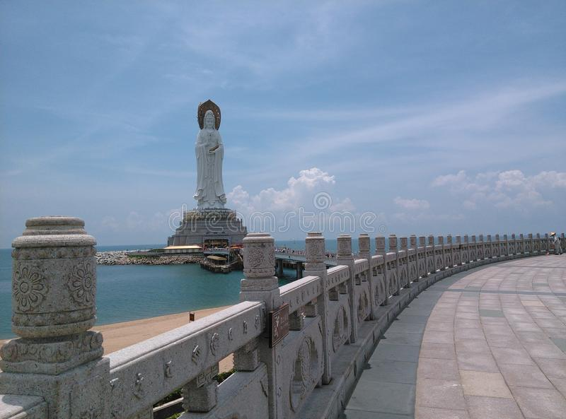 Nanhai Guanyin statua w Sanya, Hainan w Chiny obrazy stock