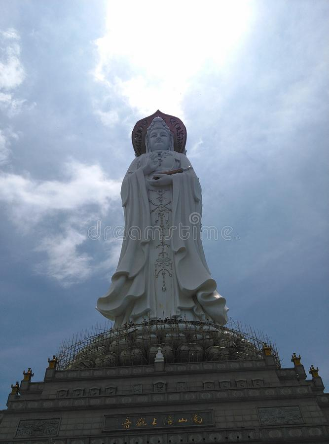 Nanhai Guanyin statua w Sanya, Hainan w Chiny obraz stock