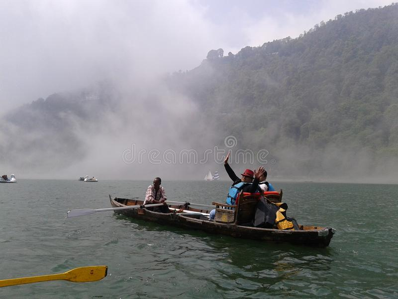 Nani Lake life in Nanital india royalty free stock photos