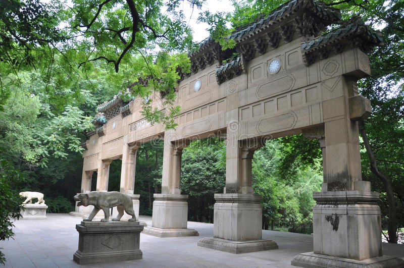 nanjing ναός linggu στοκ εικόνες