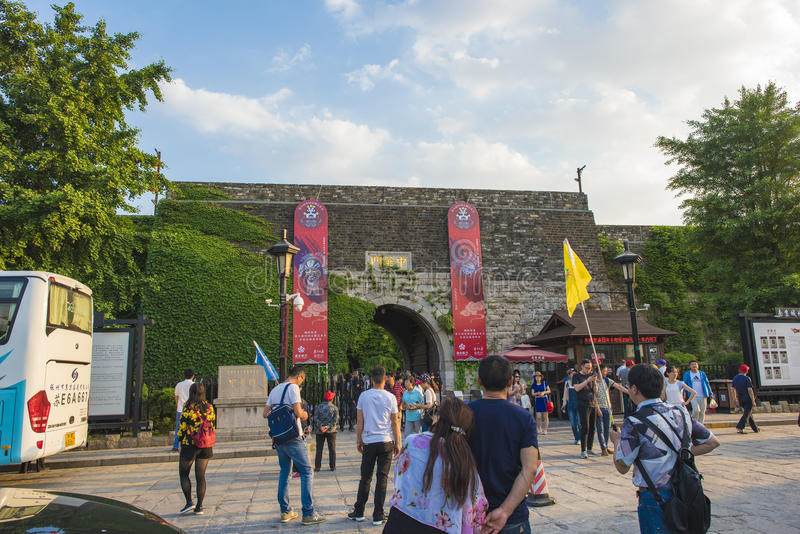 Nanjing China Gate Castle. Chinese gate, the Ming Dynasty said the door, is the Nanjing City is the south gate, is the city of Nanjing within the city walls of royalty free stock photo