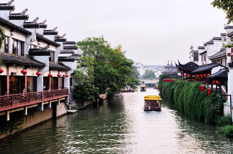 NanJing City Confucius Temple. Nanjing is a famous tourism city in China 。At the lower reaches of the Yangtze River, Nanjing is an important economic royalty free stock photos