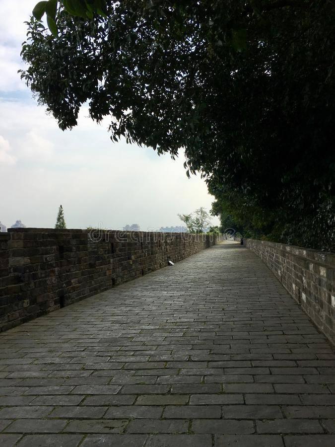 Nanjing city wall. Of the Ming Dynasty stock images