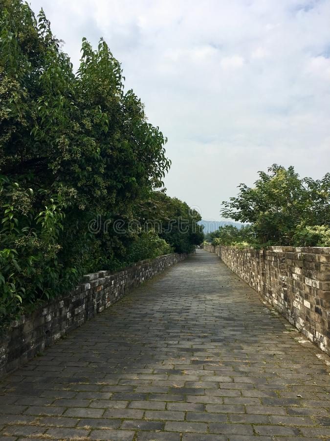 Nanjing city wall. Of the Ming Dynasty stock photos