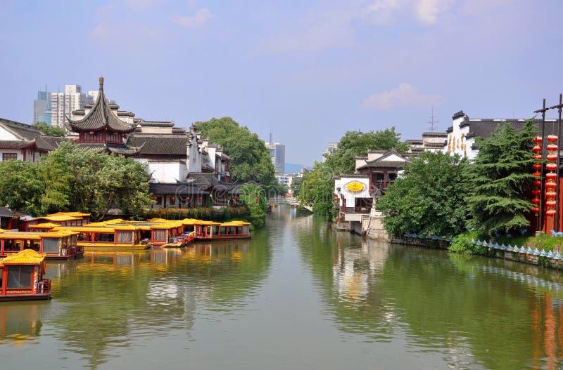Nanjing Confucius Temple. Confucius Temple on the bank of Qinhuai River, Nanjing, Jiangsu Province, China. Nanjing Confucius Temple (Fuzi Miao) go back to AD stock images