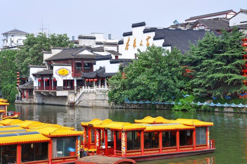 Nanjing Confucius Temple, China. Confucius Temple on the bank of Qinhuai River, Nanjing, Jiangsu Province, China. Nanjing Confucius Temple Fuzi Miao go back to stock photos