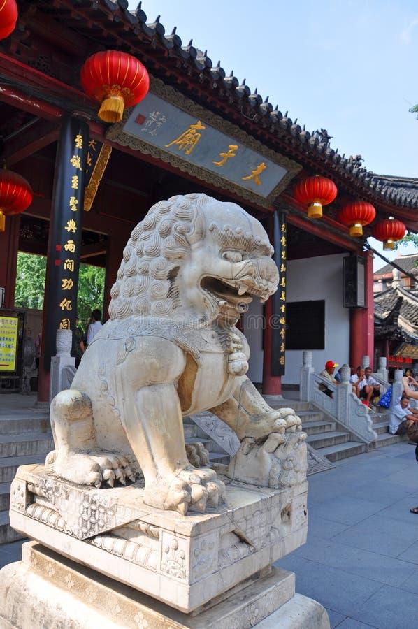 Nanjing Confucius Temple, China. Confucius Temple on the bank of Qinhuai River, Nanjing, Jiangsu Province, China. Nanjing Confucius Temple Fuzi Miao go back to royalty free stock images