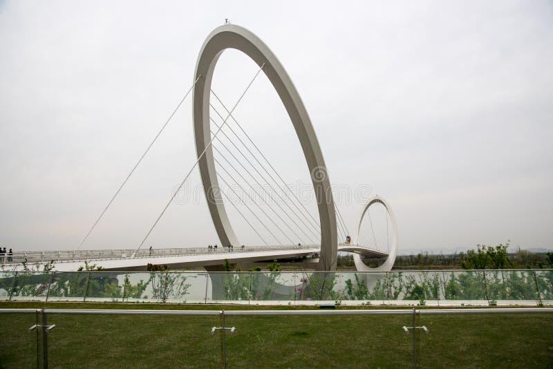 Nanjing eye Pedestrian bridge royalty free stock images