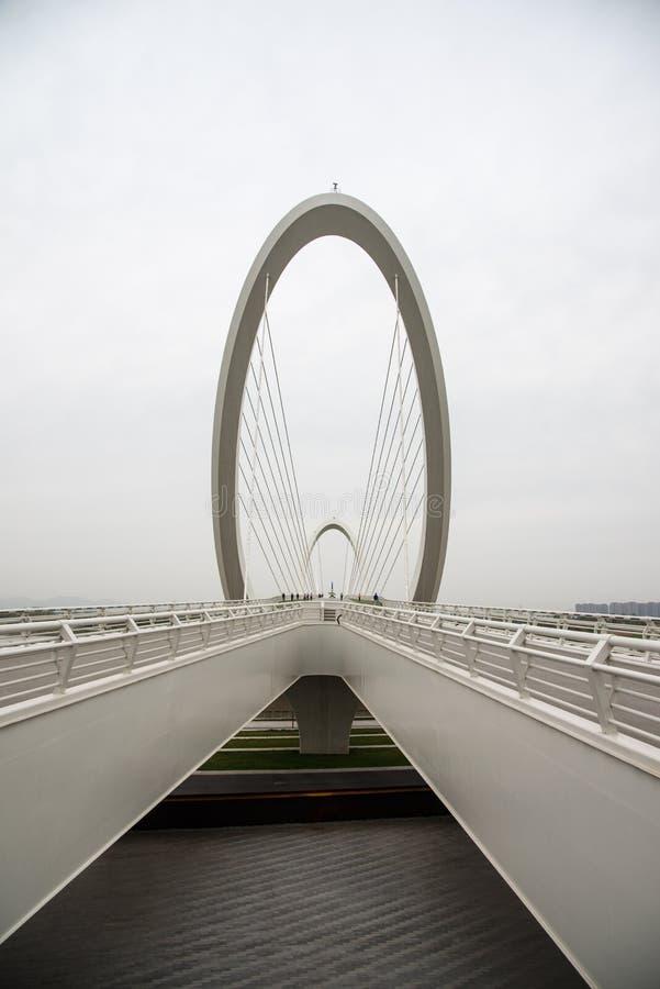 Nanjing eye Pedestrian bridge royalty free stock image