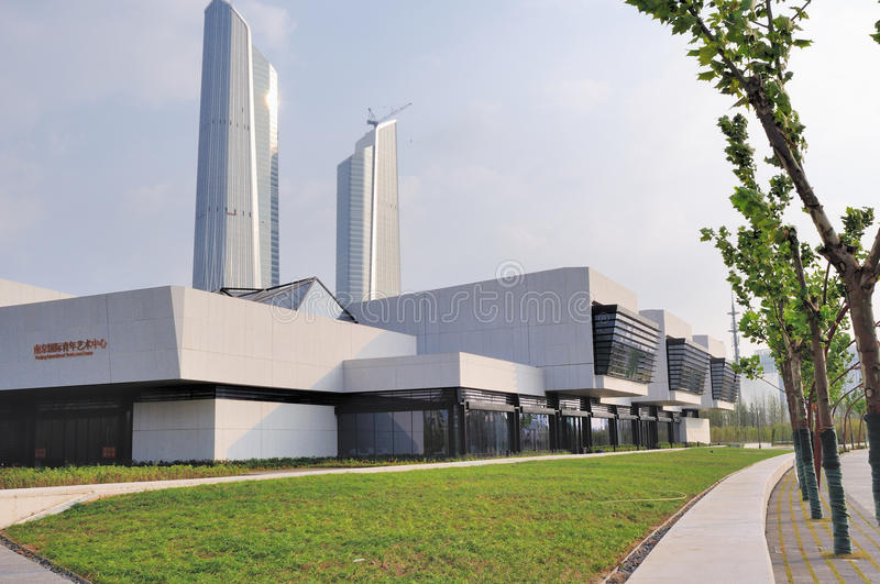 Nanjing International Youth Art Center stock images