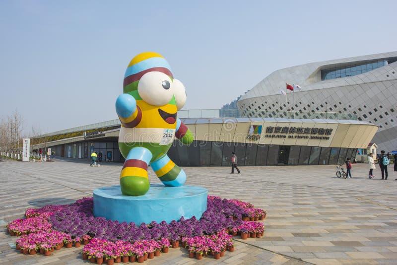 Nanjing-Jugend Olympische Spiele mascots le le lizenzfreies stockfoto