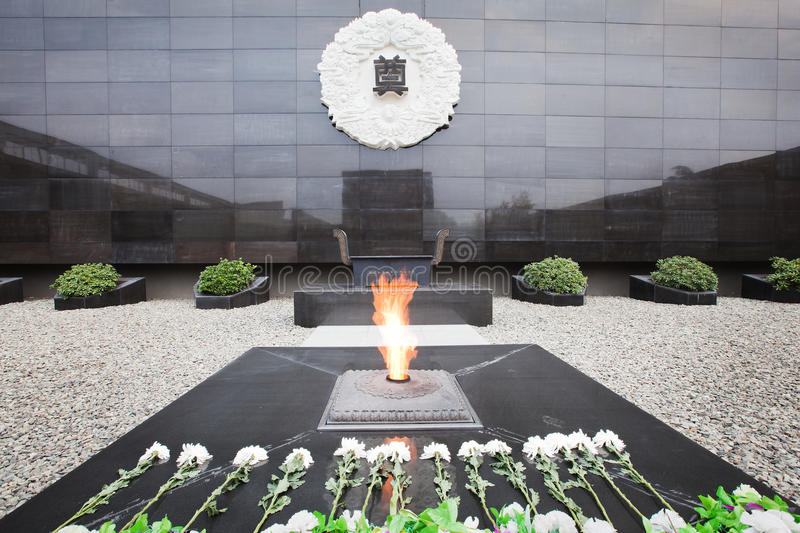 Nanjing massacre memorial. We'll never forget the day. That's the own memory of chinese. Let us remember the brave who died for the peace of the world royalty free stock image