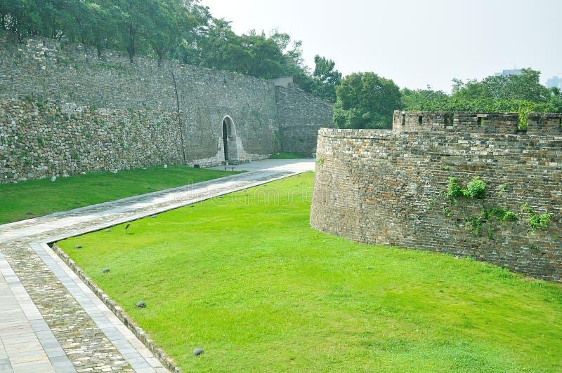 Nanjing Ming City Wall royaltyfria bilder