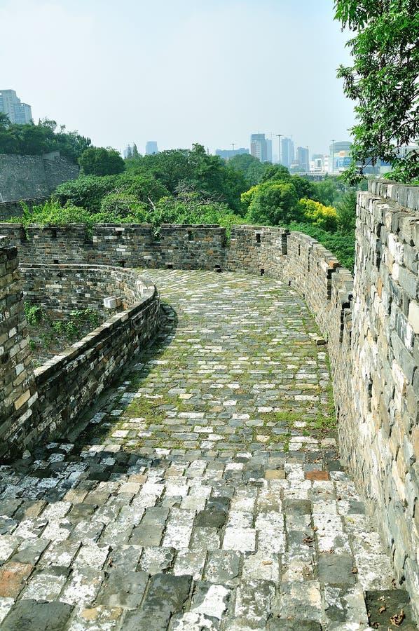 Nanjing Ming City Wall arkivbild