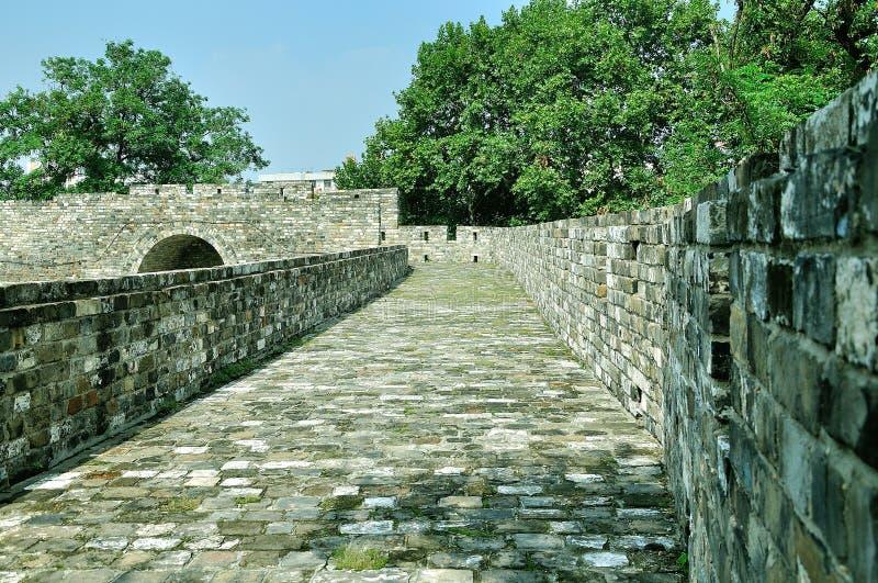 Nanjing Ming City Wall. Shence Gate area royalty free stock photo