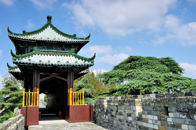 Nanjing ming great wall. Ming great wall in Xuanwu Lake,nanjing stock photography