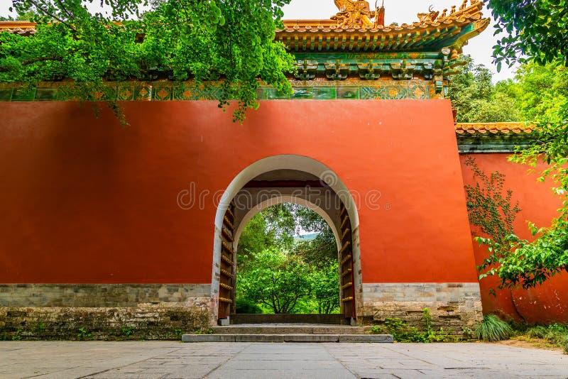 China Nanjing Ming Xiaoling Mausoleum 33. Nanjing Ming Xiaoling Mausoleum Zhongshan Scenic Area Nei Hong Men Inner Red Gate View royalty free stock photos
