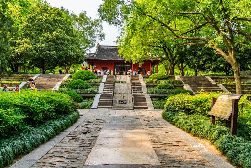 China Nanjing Ming Xiaoling Mausoleum 26. Nanjing Ming Xiaoling Mausoleum Zhongshan Scenic Area Tablet Hall with Chinese Tourists royalty free stock image