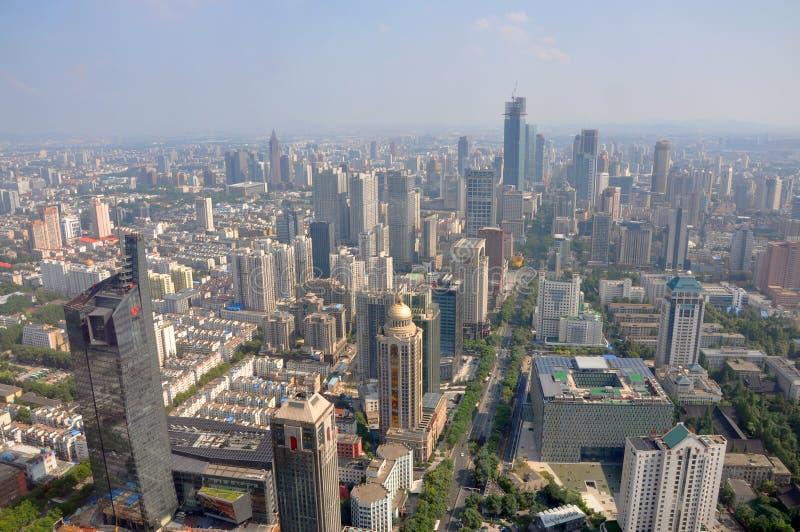 Nanjing Modern Skyline, China stock image