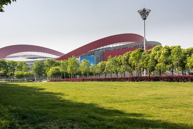Nanjing Olympic Sports Center stock photos