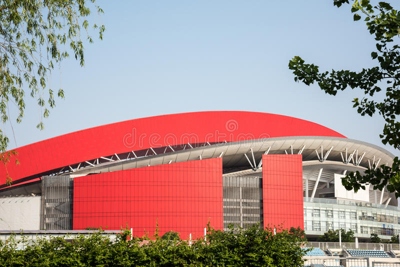 Nanjing Olympic Sports Center royalty free stock image
