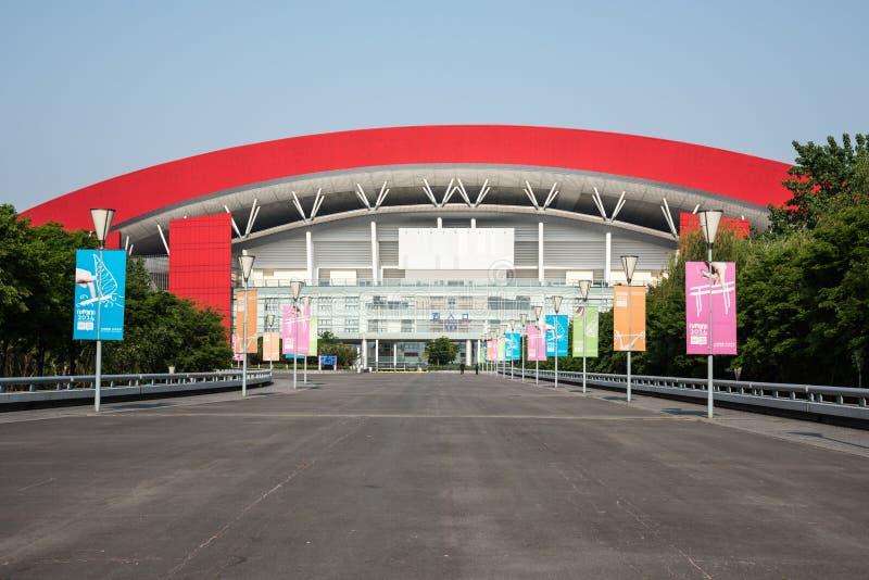 Nanjing Olympic Sports Center stock photo