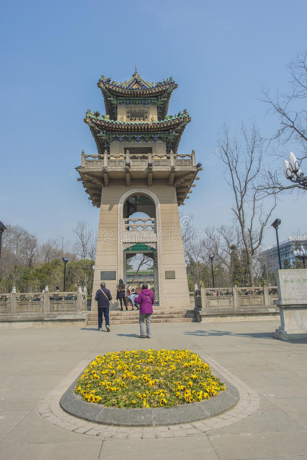Nanjing Peace Park. Peace Park Clock Tower is located in Nanjing Xuanwu District Peace Park, the official name for the Rising Bell Tower, is built before the stock photos