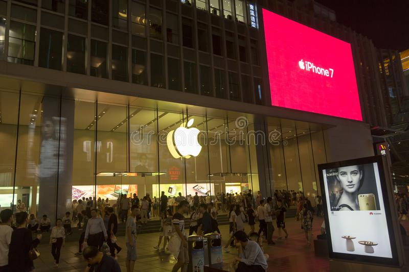 Apple store in Shanghai, China stock images